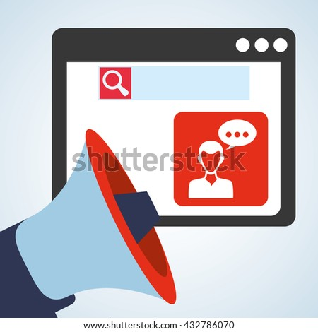 Blogging design. social media icon. Isolated illustration , vector