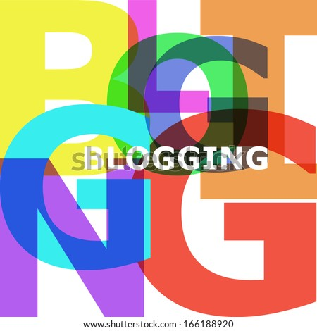 Blogging - vector abstract color text