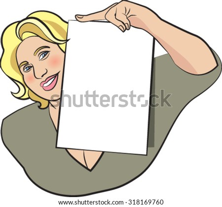 Blonde woman with white sheet - stock vector