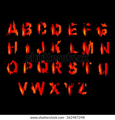 blood alphabet, EPS10
