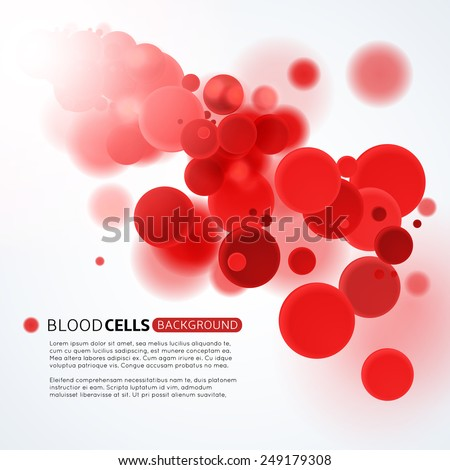 Blood cells medical background - stock vector