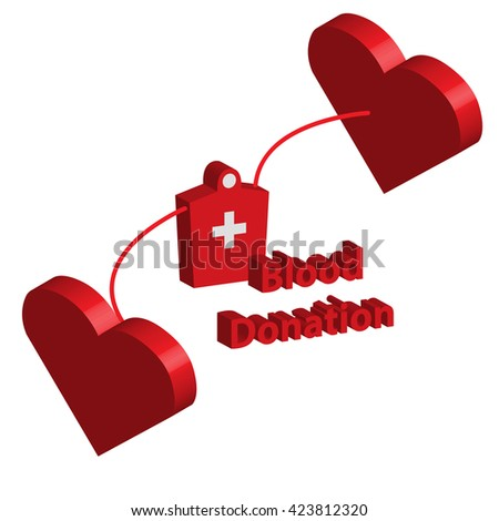 Blood donation of concept vector on white isolate background