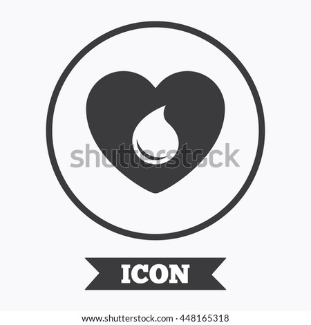 Blood donation sign icon.  - stock vector