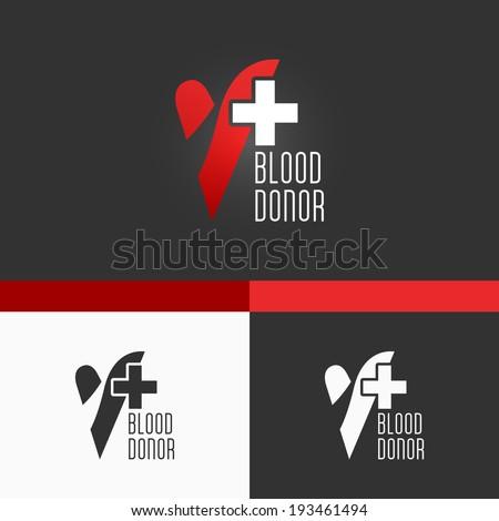 Blood Donation Symbol Template. Modern Vector EPS10 Concept Illustration Design - stock vector