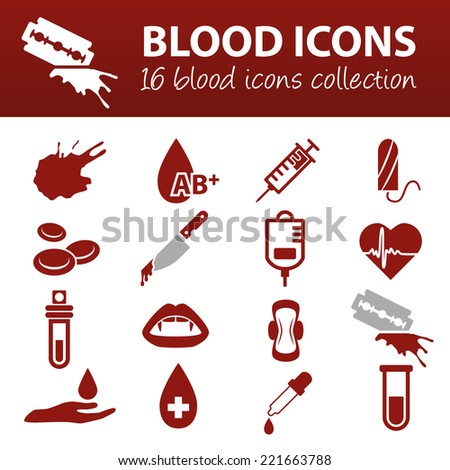 blood icons - stock vector