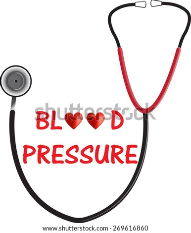 Blood Pressure BP - stock vector
