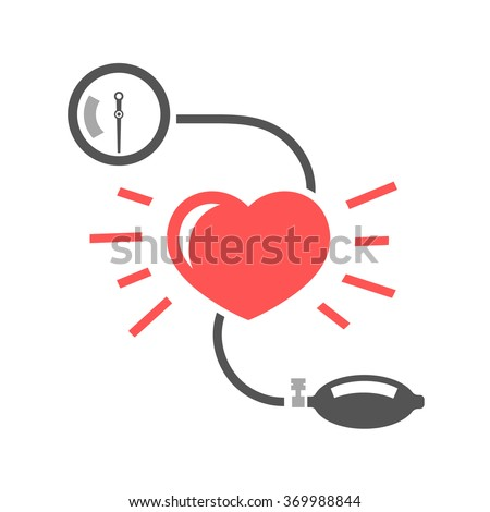 blood pressure measuring - stock vector