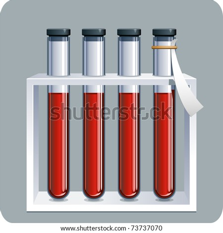 Blood samples - stock vector