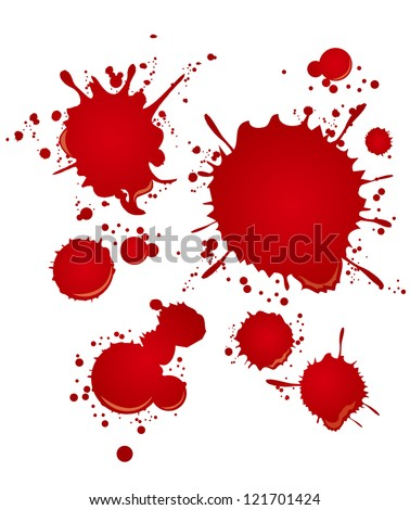 blood set - stock vector