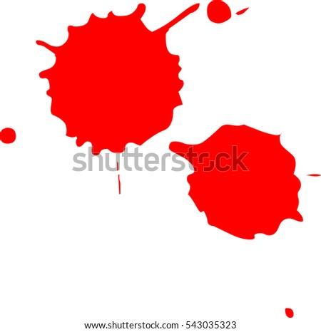 blood splatter on white background stock vector 543035323 shutterstock rh shutterstock com Red Splatter Blood Splatter Vector