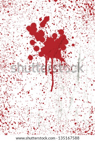 Blood stains texture background, vector. - stock vector