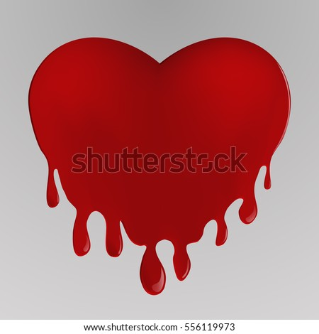 Picture Of Heart Dripping Blood