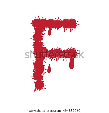 Bloody red latin alphabet. used to compound your own words, headers for posters and halloween decoration. vector illustration.