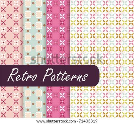 Blossom Retro Patterns - stock vector