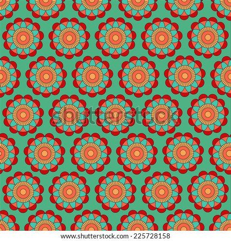 blossom seamless pattern - stock vector