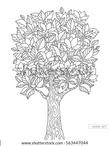 Hand Drawn Vector Illustration Olive Tree Stock Vector 551488162