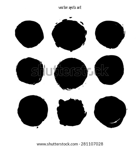 Blot, spot and stains vector illustration set - stock vector