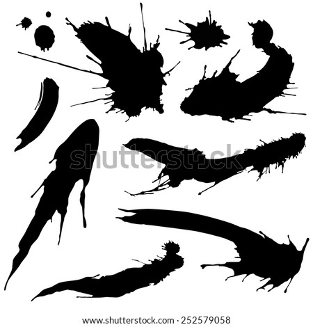 blots and smudges - stock vector