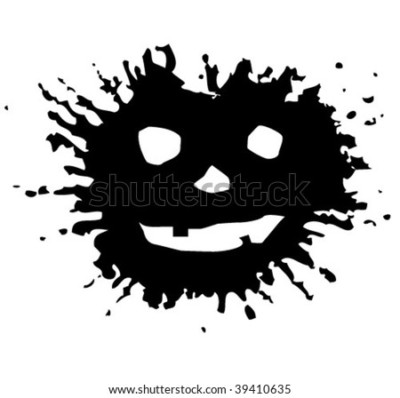 blots for Halloween. Grunge Halloween background. vector illustration. In the gallery also available XXL jpeg image made from vector - stock vector