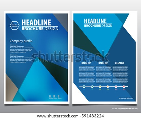 Modern Annual Report Brochure Book Vector Stock Vector 492420007