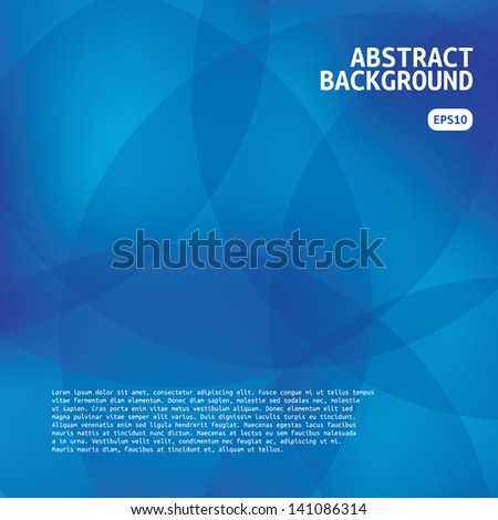 Blue Abstract Background. Beautiful Abstraction.  - stock vector