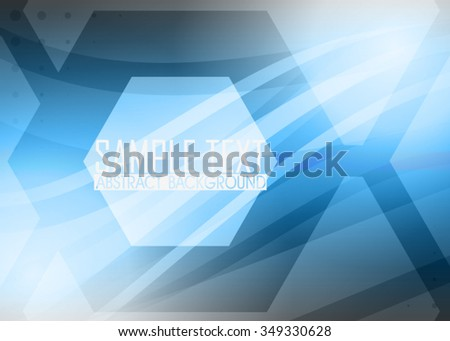 Blue abstract background illustration. Template for business card or banner  - stock vector