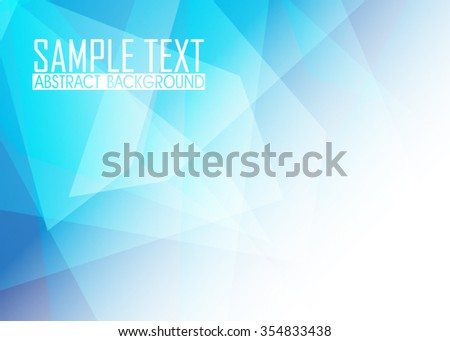 Blue abstract background illustration. Template for business card or banner.
