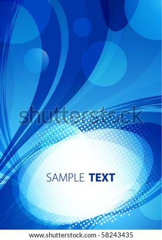 Blue abstract background. Vector