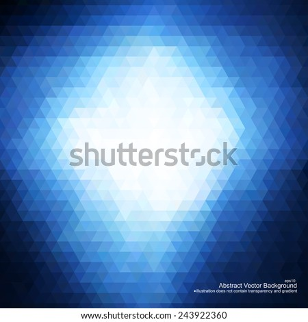 Blue abstract background. Vector illustration does not contain gradient and transparency - stock vector