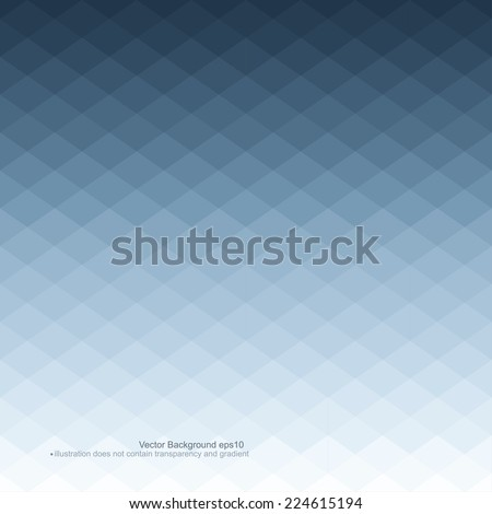 Blue abstract background. Vector illustration does not contain gradients and transparency - stock vector