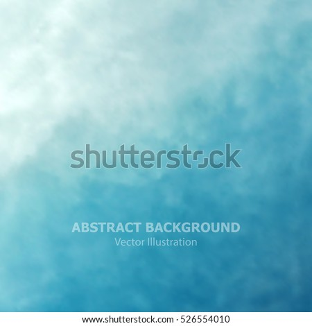Blue abstract background. Vector sky texture. Illustration made by gradient mesh