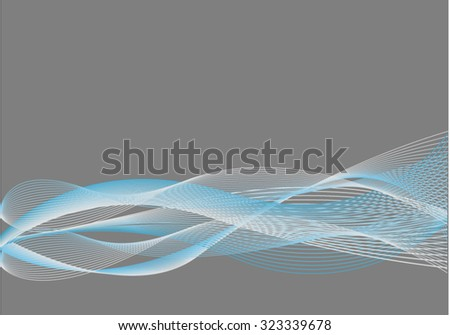 Blue Abstract Background with Blend - stock vector