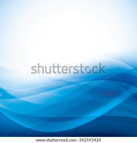 blue abstract background with folding waves. vector - stock vector