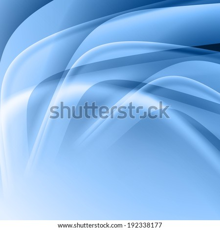 Blue abstract background with  light lines  and shadows.