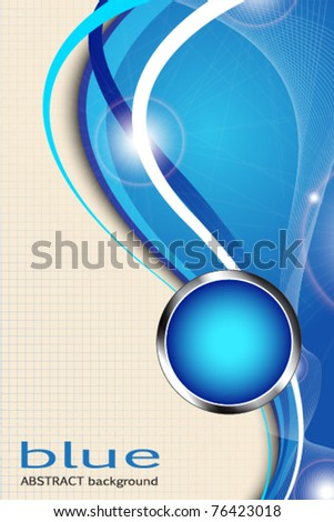 blue abstract background with lines - stock vector