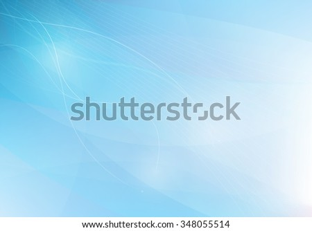 Blue abstract background with lines waves, vector illustration - stock vector