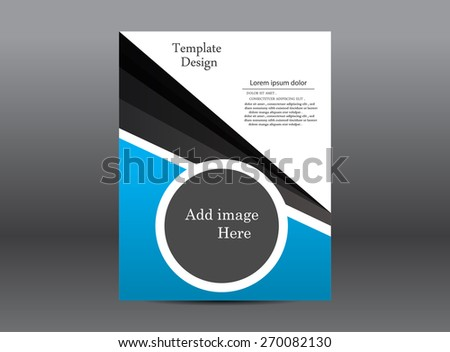 Blue Abstract Brochure - stock vector