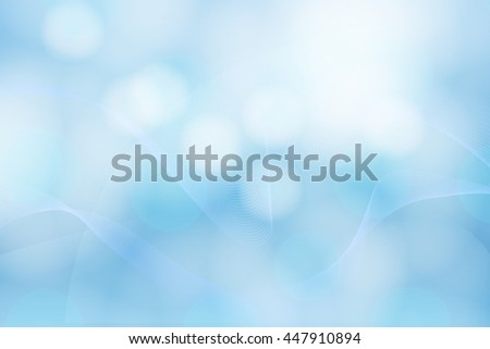 Blue abstract bubble waving background - stock vector
