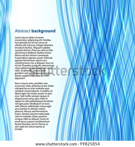 Blue abstract business background - stock vector