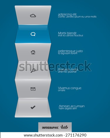 blue abstract design element - stock vector