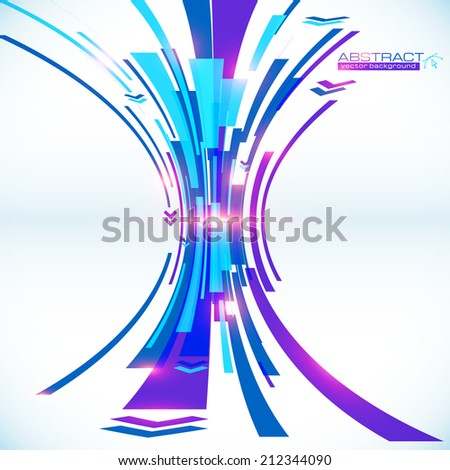 Blue abstract futuristic perspective vector background - stock vector