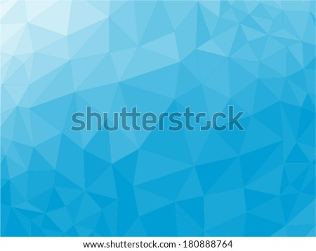 Blue abstract geometric rumpled triangular low poly style vector illustration graphic background - stock vector