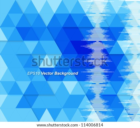 Blue abstract geometrical background - stock vector
