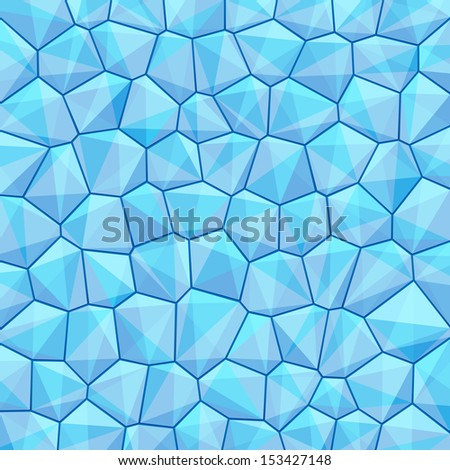 Blue abstract geometrical background with hexagon, triangle shapes with copy space for your text, sign. Empty template swatches square format. Vector illustration clip-art web design element 10 eps - stock vector
