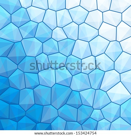 Blue abstract geometrical background with sexangle, triangle shapes with copy space for your text, sign. Color template swatches square format. Vector illustration clip-art web design element 10 eps - stock vector