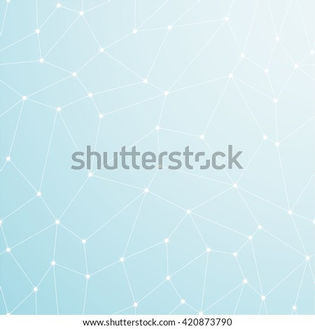 Blue abstract light background. Geometric concept. Business, medicine ot technology background. Vector illustration eps10. - stock vector
