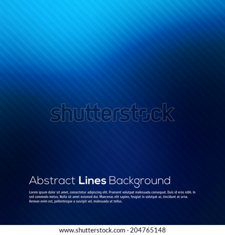 Blue abstract lines business vector background. - stock vector