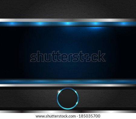 blue abstract metal background - stock vector