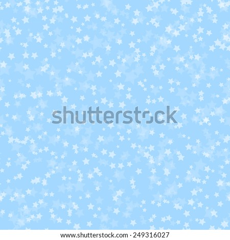 Blue abstract pattern with stars, vector illustration
