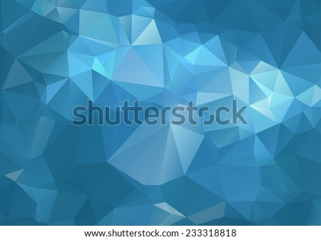 blue abstract polygonal background - stock vector